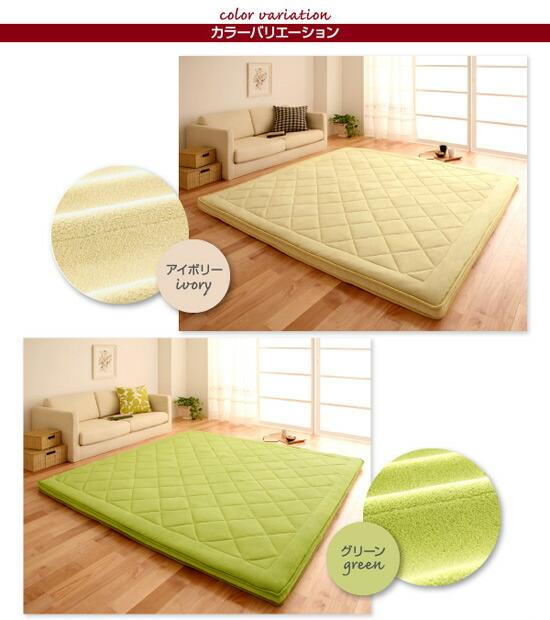 厚さ5cm!マイクロファイバーラグ190×190cm 床暖房対応マット 床暖対応ふかふかカーペット - エイムキューブ画像5