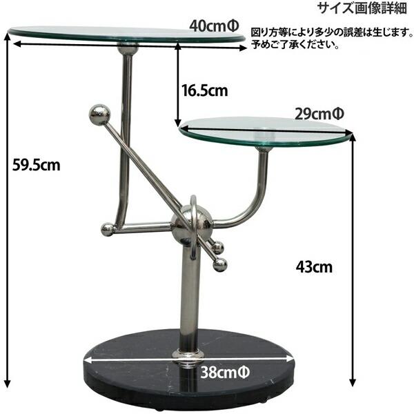 ベッドサイドテーブル ソファサイドテーブル 天然大理石土台 ガラスサイドテーブル 展示台 - aimcube画像4