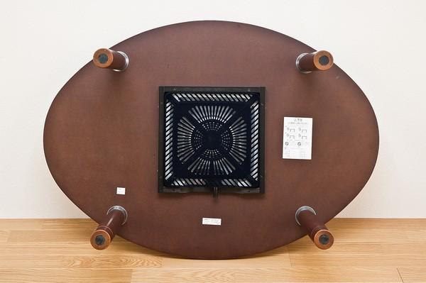 継脚 カジュアルこたつ 120cm幅 茶 ブラウン 天板楕円 コタツ センターテーブル 炬燵 火燵 - エイムキューブ画像3