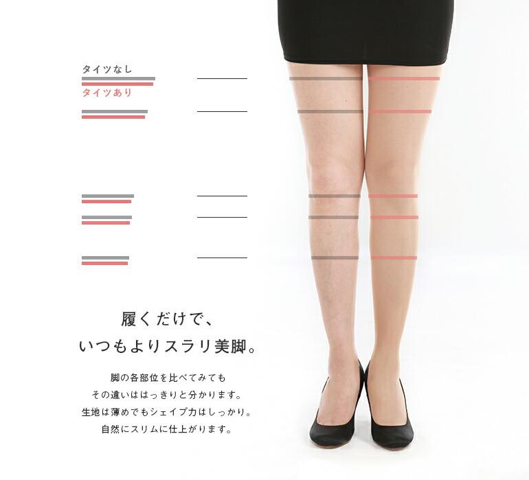 履くだけで、いつもよりスラリ美脚。