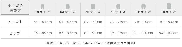 Sサイズ、Mサイズ、Lサイズ、XLサイズ、XXLサイズ、XXXLサイズ