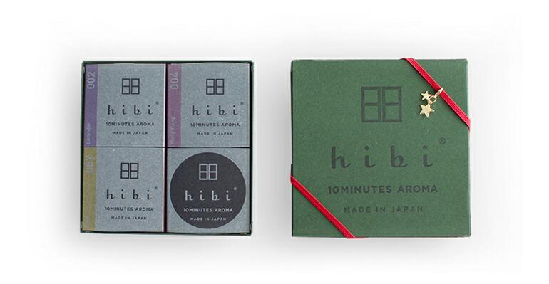楽天市場 hibi ヒビ 10minutes aroma 3種の香りギフトボックス