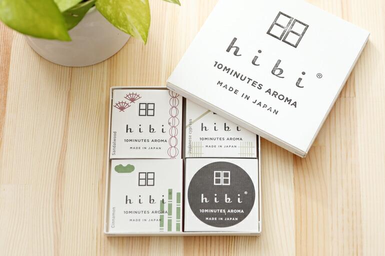 楽天市場 hibi ヒビ 10minutes aroma 和の香り 3種ギフトボックス