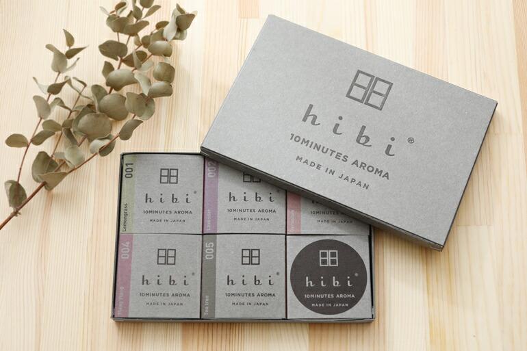 楽天市場 hibi ヒビ 10minutes aroma 5種の香りギフトボックス ペーパー