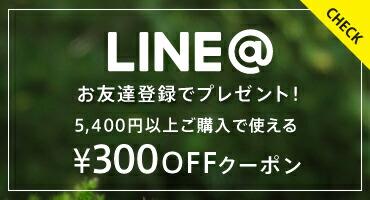 LINE@登録で10%OFFクーポンプレゼント