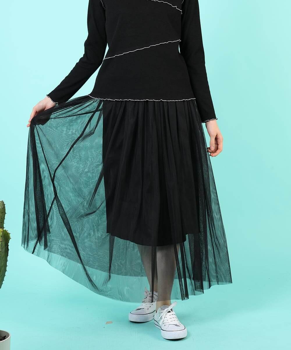 aimoha のスカート/ロングスカート BLACK