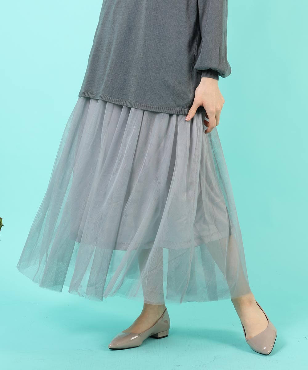 aimoha のスカート/ロングスカート GRAY
