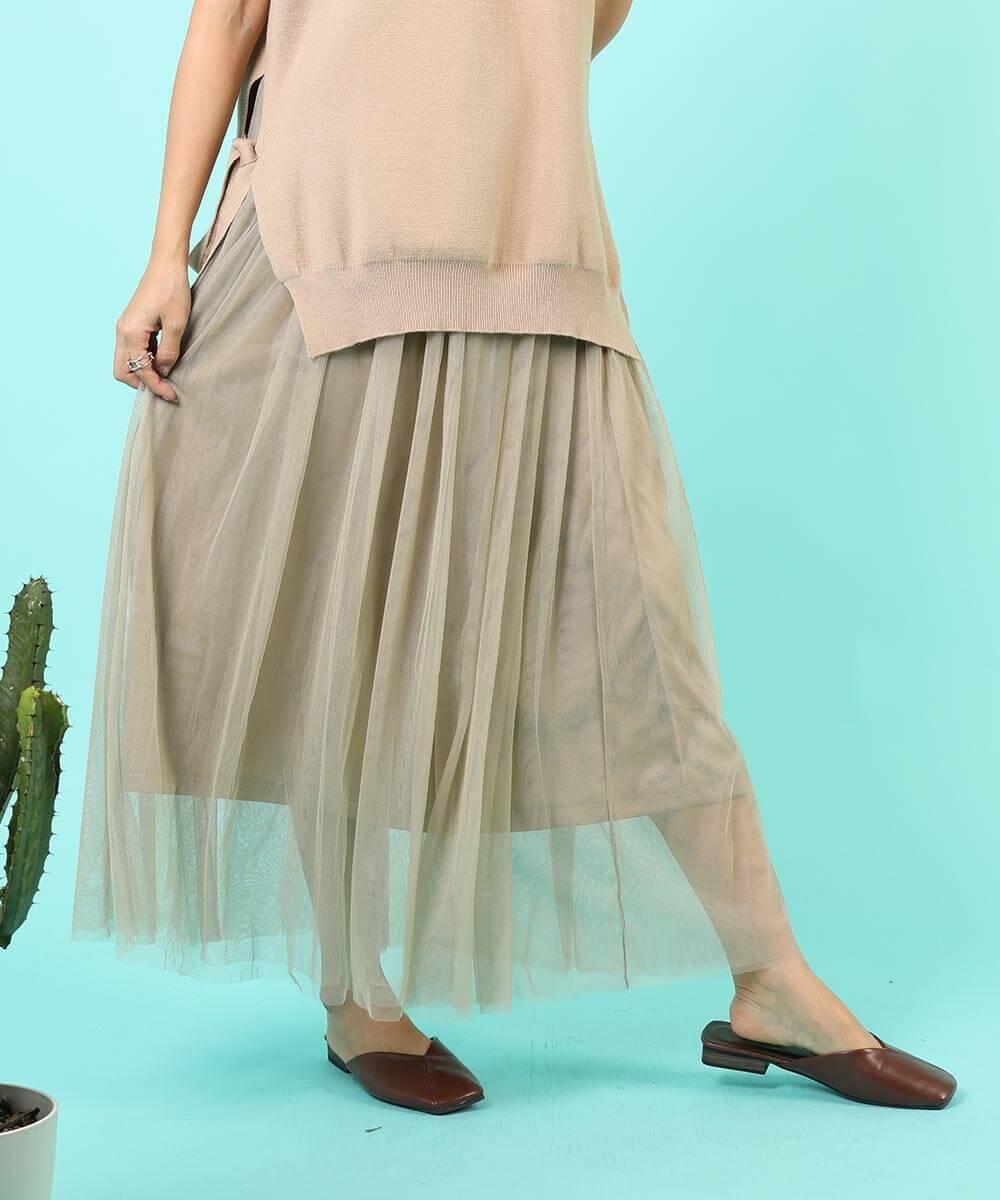 aimoha のスカート/ロングスカート BEIGE
