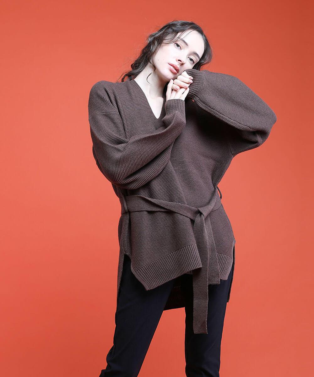 aimoha のトップス/ニット・セーター|BROWN