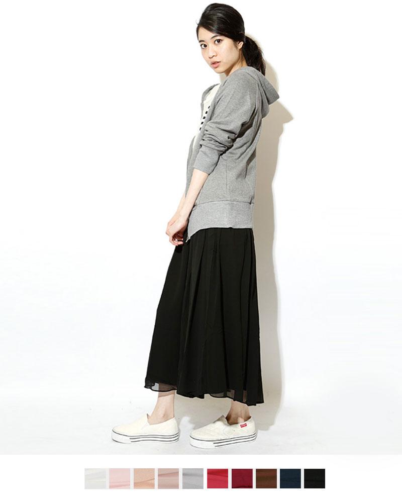 シフォンマキシロングスカート