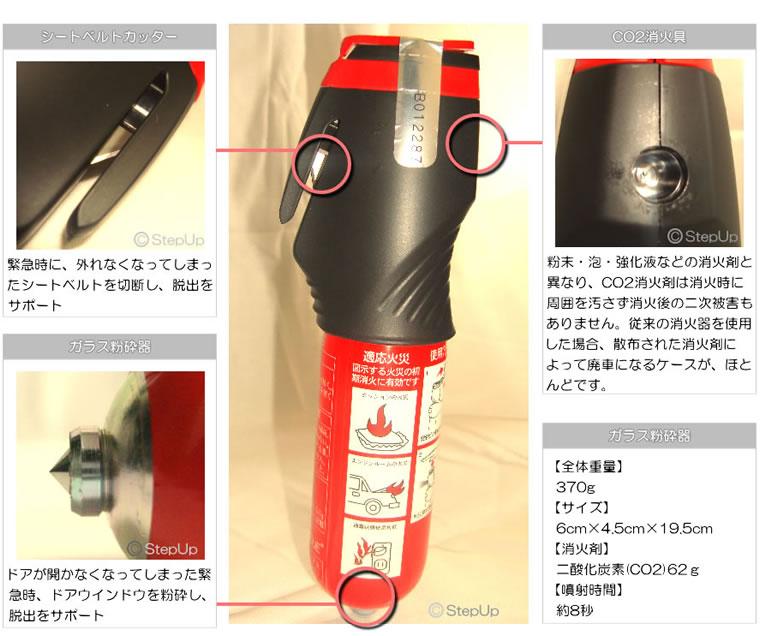 消棒レスキュー車両専用小型二酸化炭素消火具
