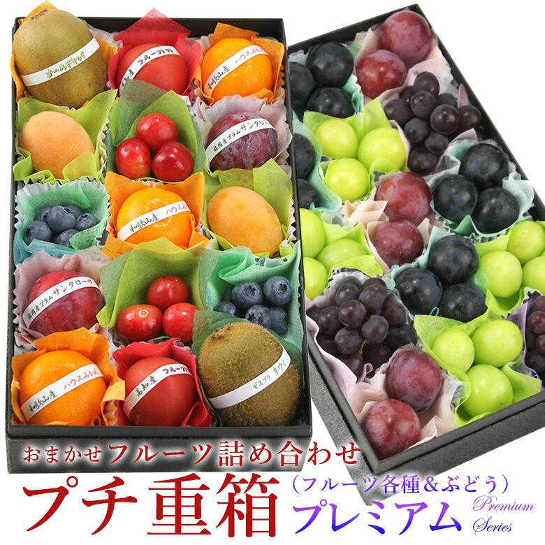 プチ重箱(ぶどう3〜4種入り)