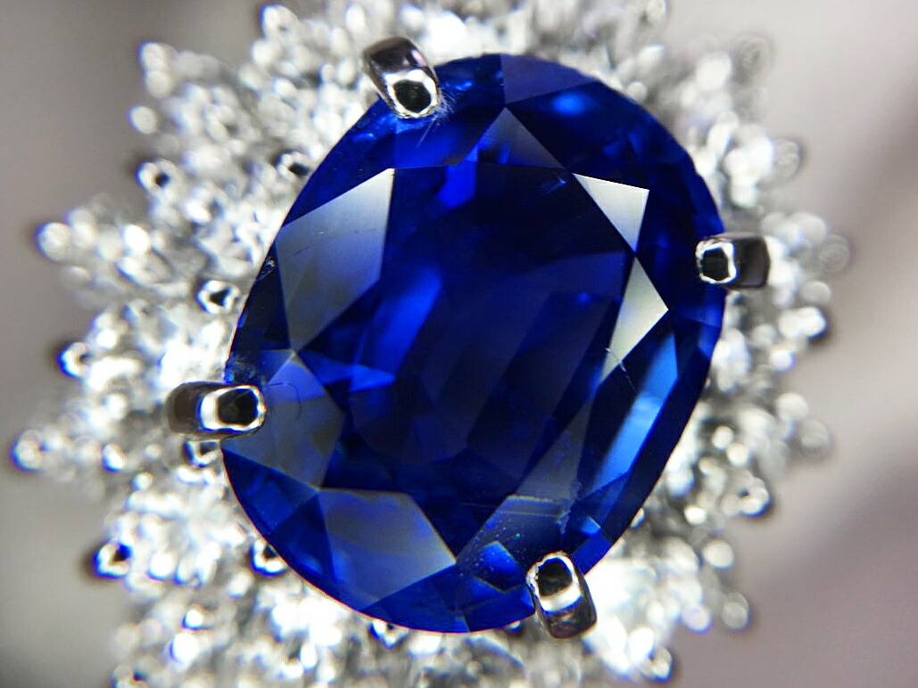 cluster art circa diamond ring natural coronet sapphire detail burmese antiques and