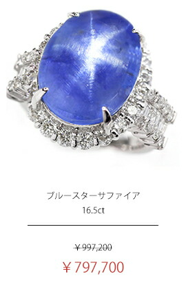 スリランカ産ブルースターサファイア 16.5ct ダイヤモンド 1.88ct リング
