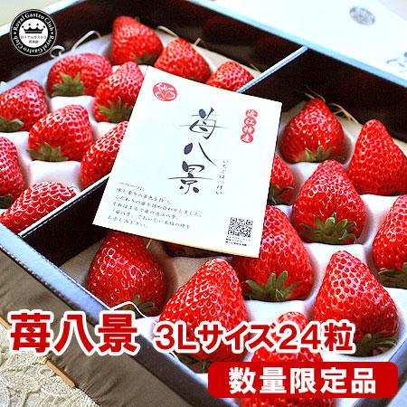 滋賀産「苺八景」(3Lサイズ/24粒入)