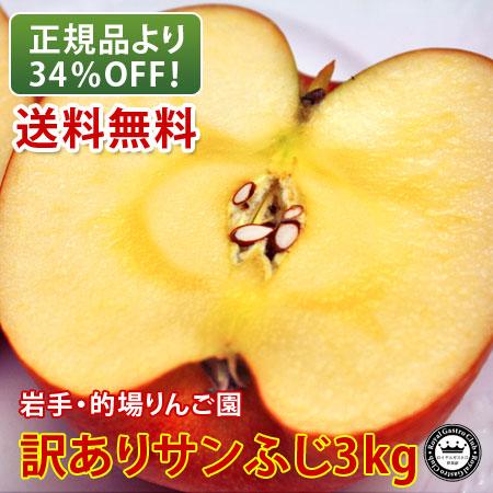 【訳あり品】的場りんご園のサンふじ(約3kg)