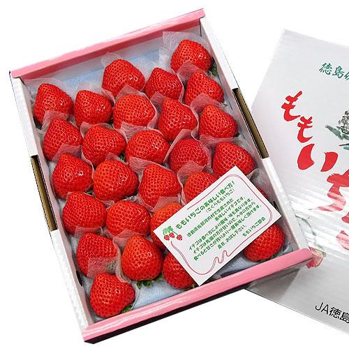 ももいちご(桃苺) 徳島県佐那河内村産 24〜28玉 化粧箱入り