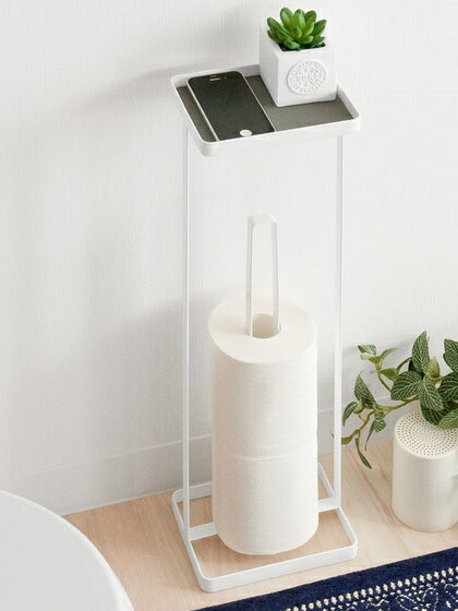 トイレットペーパー 収納 ストッカー トイレ収納 シンプル おしゃれ towerトイレットペーパースタンド  ホワイト ブラック