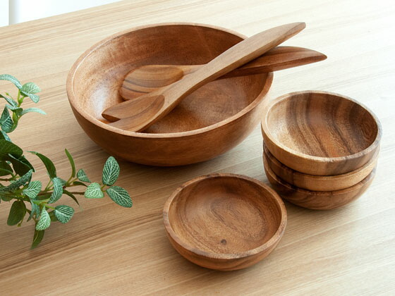 ... Dinnerware at any dinner table taste such as Northern Europe and natural modern ethnic variety still good room-friendly. Warmth of the beautiful wood ... & air-rhizome | Rakuten Global Market: Wooden tableware dish plate set ...