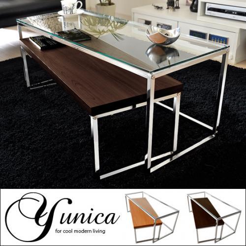 ガラス センターテーブル yunica〔ユニカ〕