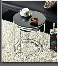 送料無料 〔バース〕 おしゃれ ソファ BARTH 家具 テーブル ナイトテーブル ブラック ブラウン シンプル 北欧 モダン table ホワイト サイドに最適 サイドテーブル ソファーテーブル 木製 2個セット かわいい ベッド 円形 黒 ネストテーブル 丸型