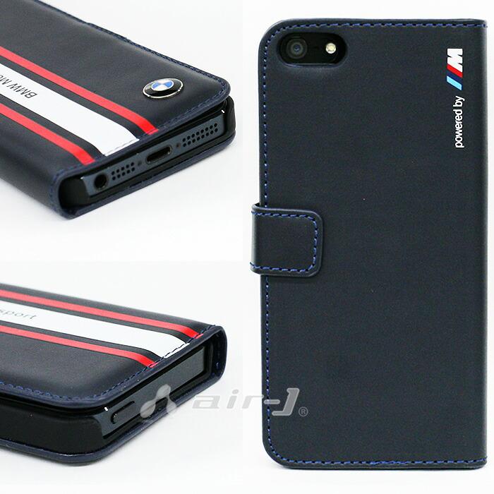 BMW・公式ライセンス品iPhone5siPhone5専用フリップケース(ブックタイプ/手帳型)[MotorsportCollection][FlapBooktypeNavyBlueforiPhoneSE/5s/5]BMFLHP5SN