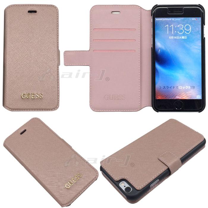 GUESS・公式ライセンス品iPhone6プラスサフィアーノ調手帳型ケース