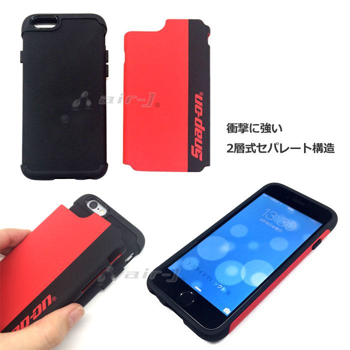Snap-on (スナップ オン) 公式ライセンス iPhone6s/6 専用 背面 ケース PU素材 衝撃吸収 耐衝撃 丈夫 【SO-GA47】