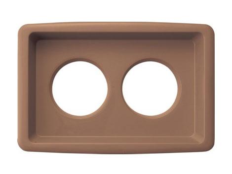 業務用、一般家庭用、各レジャー・イベント施設用に利用できる分別リサイクルボックスの茶色