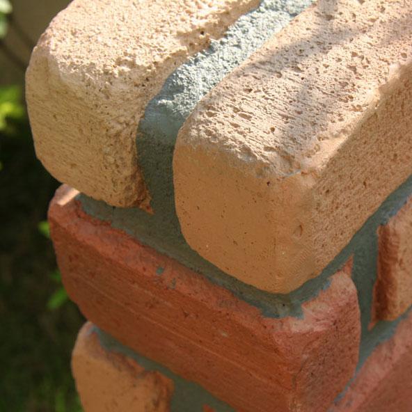レンガ調 水洗柱ユニットセット