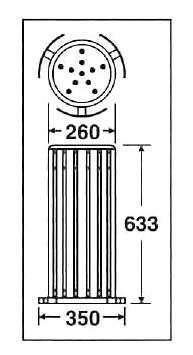 業務用スタンド灰皿 グランドコーナー 木調灰皿M-126