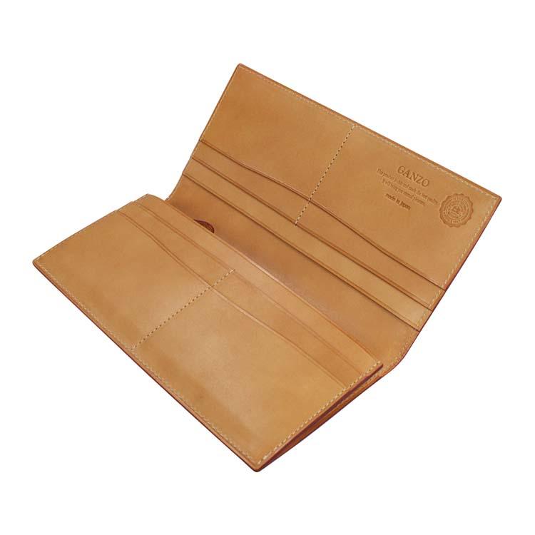 GANZO コードバン 長財布 の内装画像