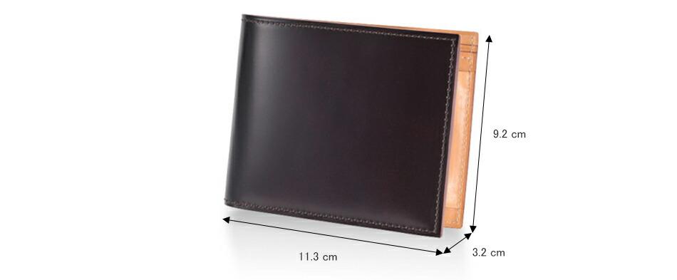 GANZO ガンゾ CORDOVAN コードバン メンズ 財布 2つ折り財布 日本製 本革 ブラック ダークグリーン ダークブラウン ネイビー