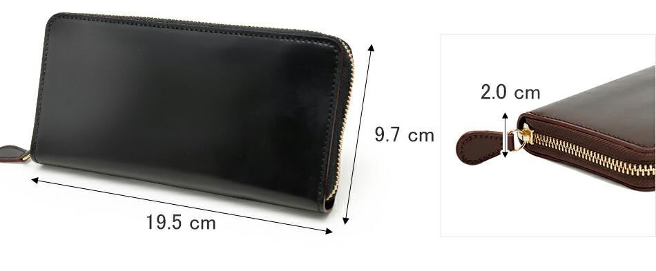 GANZO ガンゾ SHELLCORDOVAN シェルコードバン 財布 ラウンド財布 日本製 ブラック ダークブラウン ネイビー
