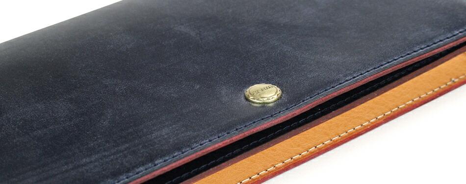 GANZO ガンゾ THINBRIDLE シンブライドル 長財布 コンパクト メンズ ブラック ヘーゼル ダークブラウン ネイビー