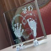 手形・足型ガラス