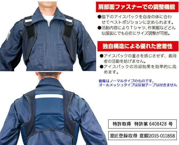 熱中症対策グッズ 冷却ベスト アイスハーネス 抜群の装着感と保冷効果