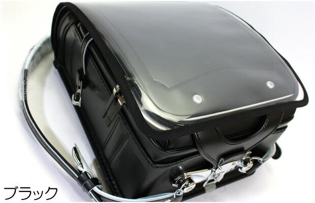 ランドセルカバー 透明 ブラック