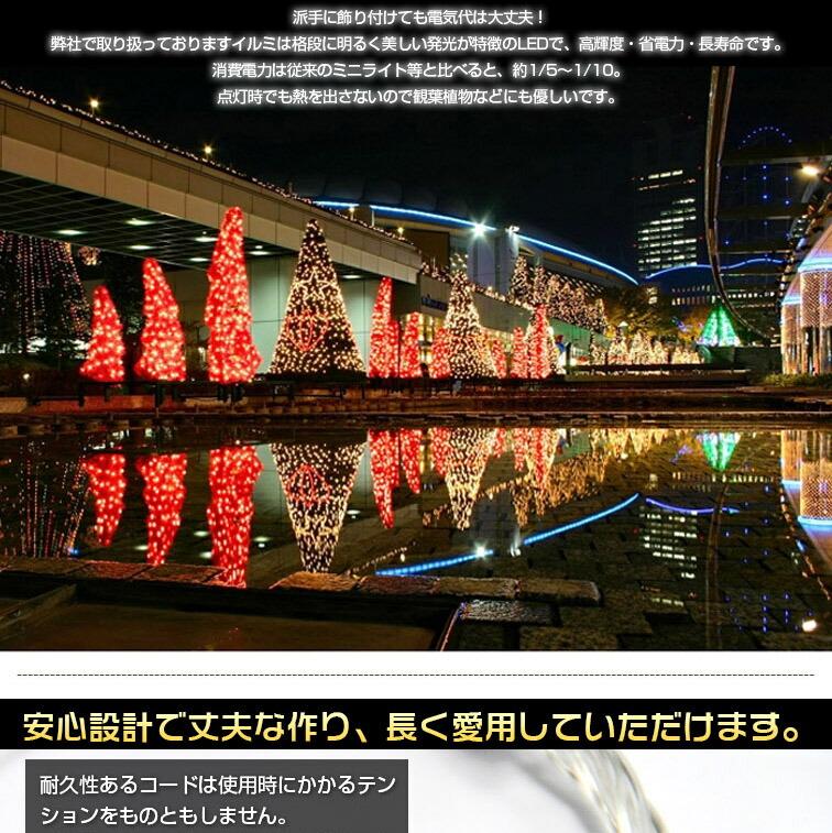 Led Illuminated 10 M 100 Bulb Christmas Lights Lit Pattern Number 8 Mode Flashing Switch Green 360 Degree Light Emitting Bindable Defense Drops