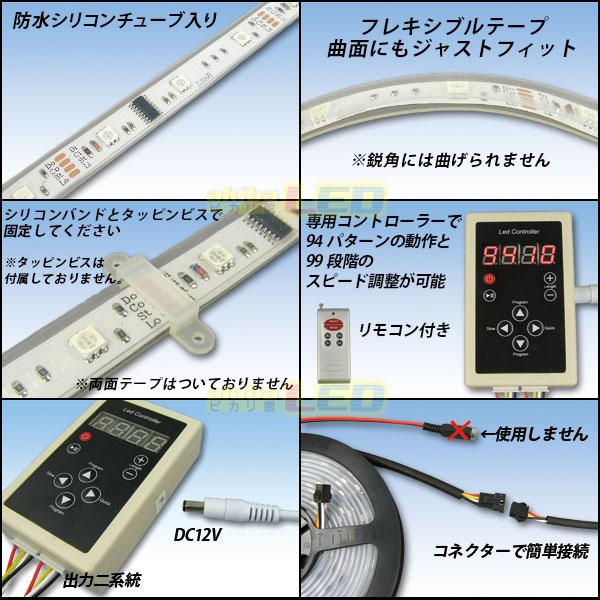 Super流れるRGBテープLEDの説明