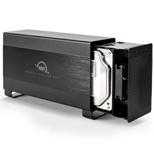 Mercury Elite Pro Dual HDD Thunderboltポートx2、USB3.1ポートx1