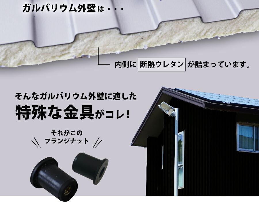 表札専用オプション 取付金具(フランジナット)