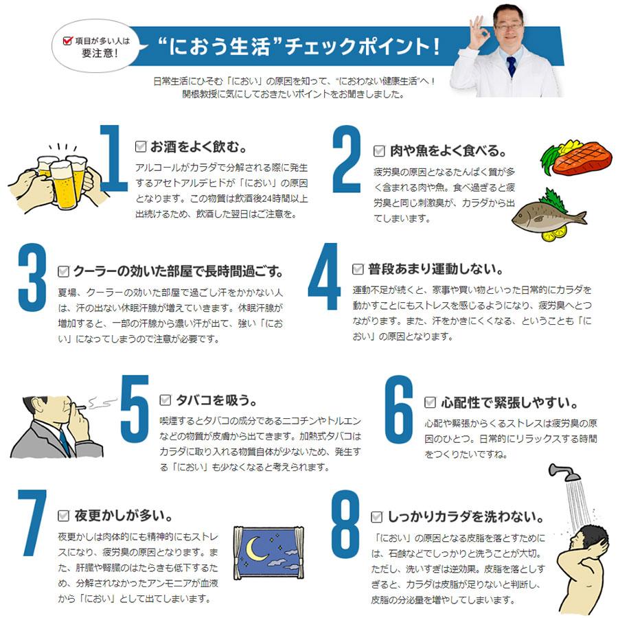 生活習慣と体臭の関係