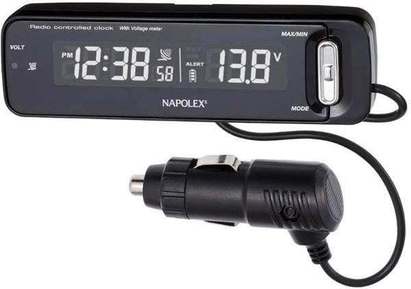 電圧計と電波時計が一つになったボルテージメータークロック