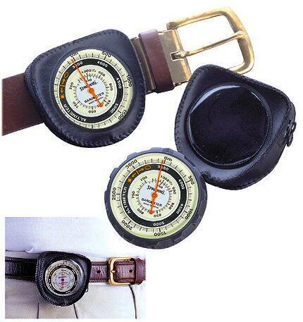 高度計:気圧表示つき携帯アナログ高度計