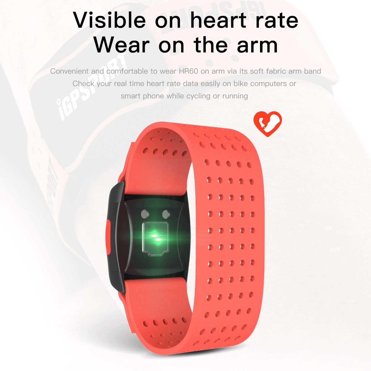 腕に装着する心拍計からサイコンやスマホで心拍数を表示