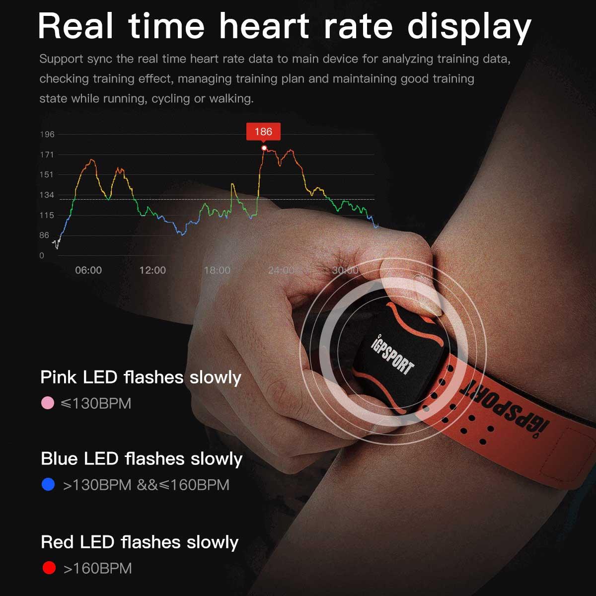 LEDライトでリアルタイムの心拍数がわかる