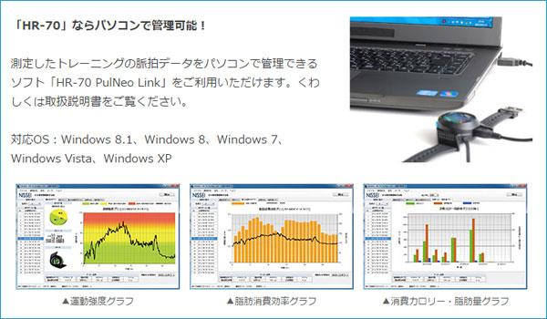計測したデータをPCで専用ソフトを使用してデータ管理