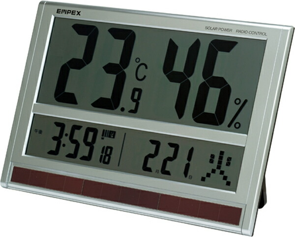 幅40cm超大型デジタル温湿度計&時計TD-8170