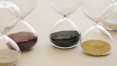 シンプルなガラス砂時計「スナ式トケイ」